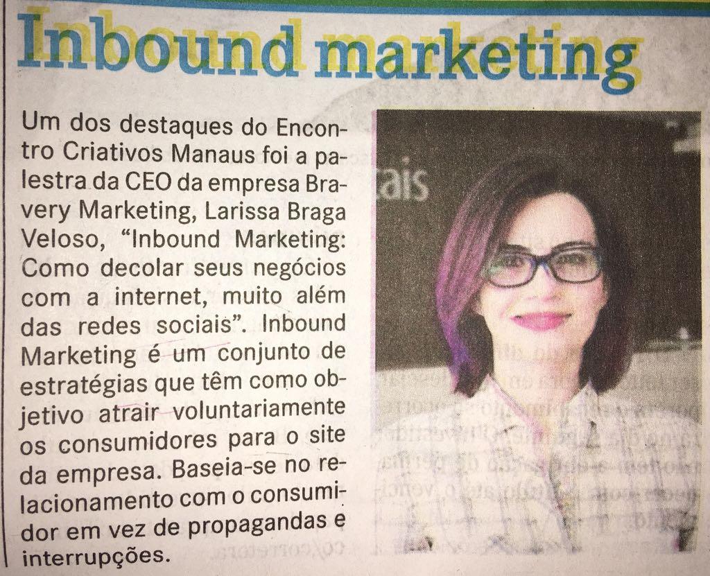 Marketing Digital em Manaus - Jornal A Crítica - Abril de 2017